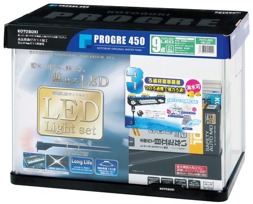 【コトブキ】コトブキ工芸 プログレ450 9点 LEDW460×D300×H340(42L) ガラス水槽