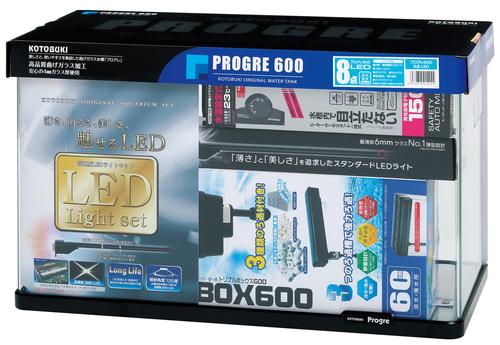 【コトブキ】コトブキ工芸 プログレ600 8点 LEDW600×D300×H360(57L) ガラス水槽