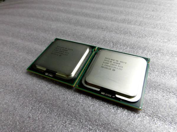 Xeon QC X5470 (12M Cache, 3.33GHz, 1333MHz FSB) SLBBF 2個セット【中古】