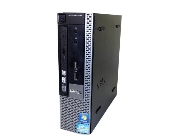 中古パソコン 本体のみ Windows7 DELL OPTIPLEX 990 USFF Core i3-2100 3.1GHz/2GB/320GB/マルチ