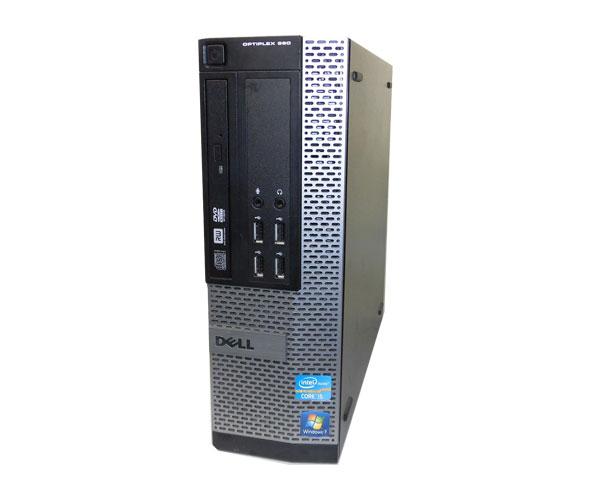Windows7 Pro 32bit DELL OPTIPLEX 990 SFF Core i3 2120 3.3GHz 4GB 500GB DVDマルチ 中古パソコン 本体のみ デスクトップ 省スペース スリム