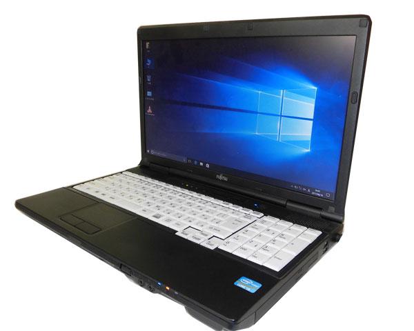 Windows10 Pro 32bit 中古ノートパソコン 15.6型 ビジネスPC 富士通 LIFEBOOK A572/FX(FMVXNEXQ2Z) Core i3-3110M 2.4GHz 4GB 320GB DVDマルチ HDMI テンキー WPS Office付き