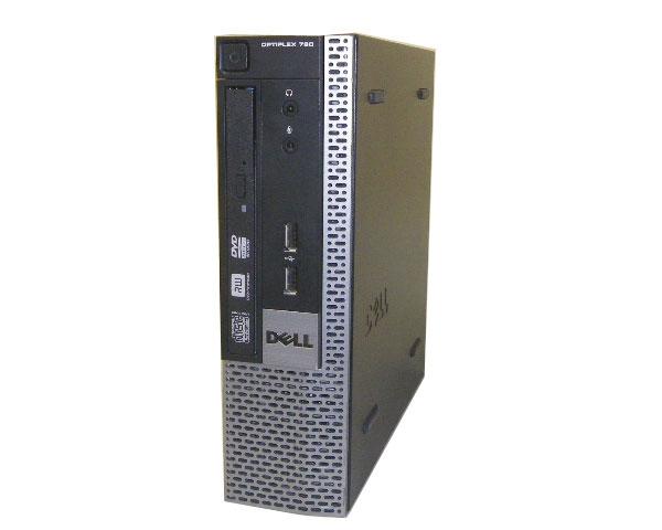 Windows7 DELL OPTIPLEX 780 USFFCore2Duo-E8400 3.0GHz/4GB/160GB/DVDマルチ