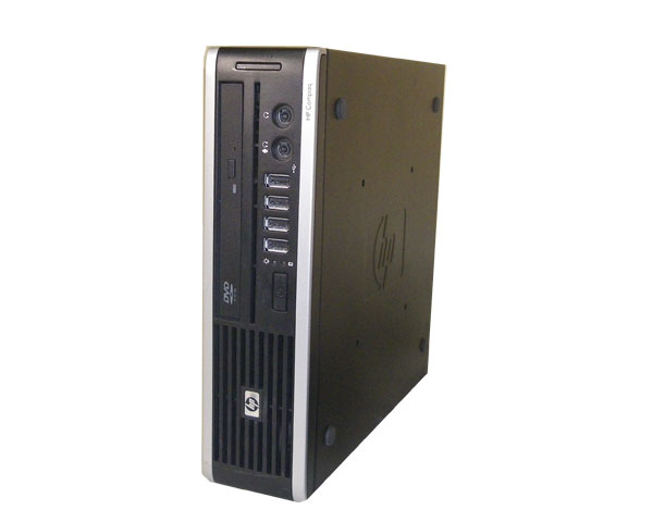 Windows7 中古パソコン ウルトラスリム HP compaq 8000 Elite US (WB091PA#ABJ) Core2Duo-E8500 3.16GHz/2GB/160GB/DVDマルチ