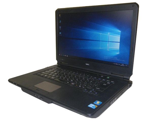 中古ノートパソコン Windows10 NEC VersaPro VK24LX-B (PC-VK24LXZCB) Core i3-370M 2.4GHz/3GB/160GB/DVDマルチ/WPS Office付き