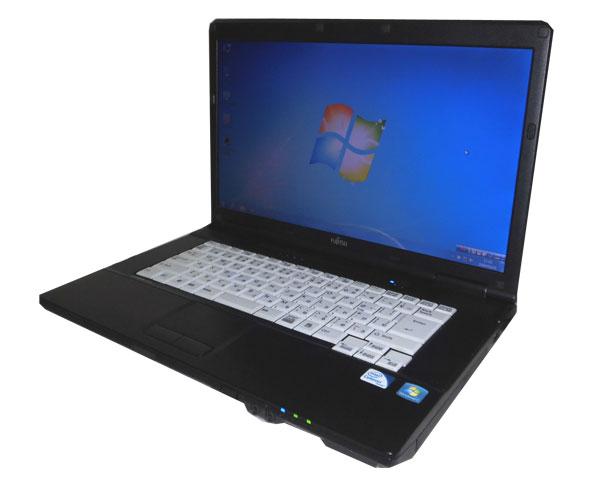 中古パソコン ノート 15型 オフィス付き ビジネスPC Windows7 リカバリー(DtoD) 富士通 LIFEBOOK A561/D(FMVNA5SE) Celeron-B710 1.6GHz メモリ4GB HDD250GB DVDマルチ 15.6インチ WPS Office付き