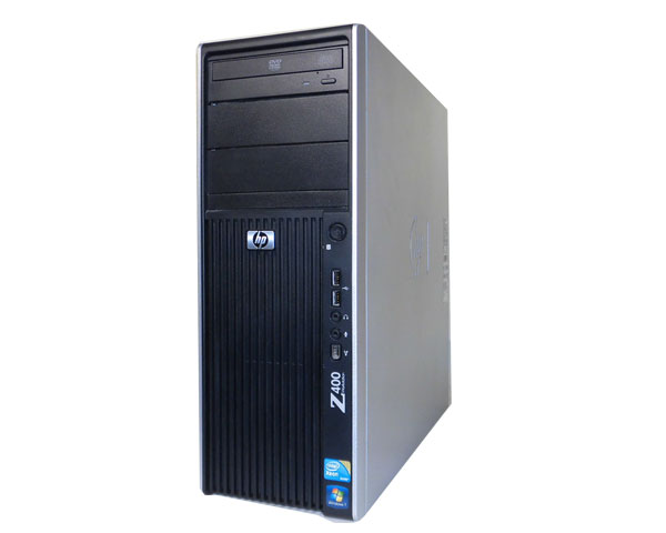Windows7 Pro-64bit 中古ワークステーション HP Workstation Z400 VS933AV 空冷モデル Xeon W3520 2.66Ghz/8GB/SAS 300GB/Quadro 2000