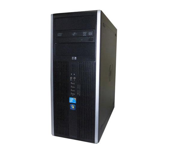 中古パソコン デスクトップ Windows7 タワー型 hp Compaq 8000 Elite CMT (AU245AV) Core2Duo E8500 3.16GHz/2GB/500GB/DVDマルチ