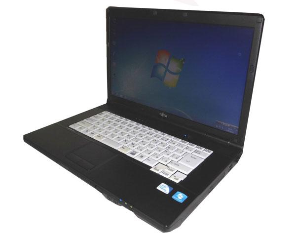 富士通 LIFEBOOK A552/E(FMVNA6FE) Celeron B730 1.8GHz 2GB 250GB DVD-ROM 15.6インチ WPS Office付き 中古パソコン ノート