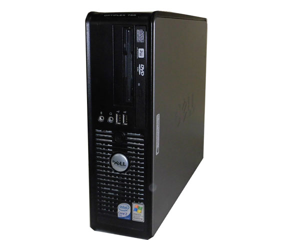 中古パソコン デスクトップ WindowsXP DELL OPTIPLEX 755 SFF Core2Duo E6550 2.33GHz/512MB/80GB/DVDマルチ