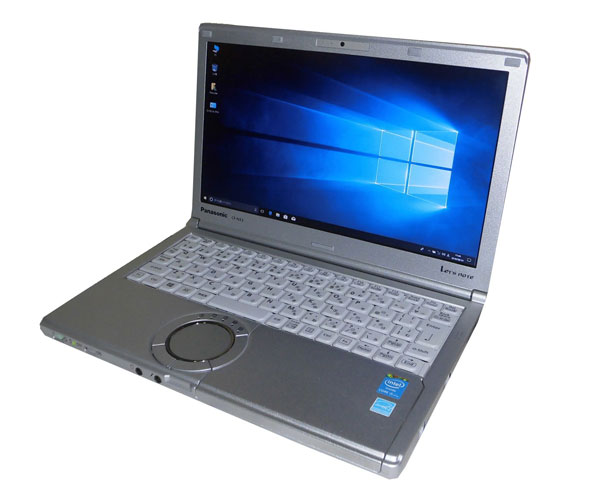 Windows10 Pro 64bit Panasonic Let'sNote CF-NX3 (CF-NX3EDHCS) Core i5-4300U 1.9GHz 4GB SSD 256GB 光学ドライブなし 無線LAN HDMI 12.1インチ HD+ (1600x900) WPS Office付き