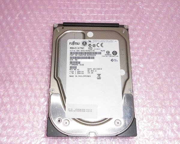 富士通 CA06306-K019 Ultra320 SCSI 80Pin 15K 別倉庫からの配送 3.5インチ 即納最大半額 中古ハードディスク 146GB
