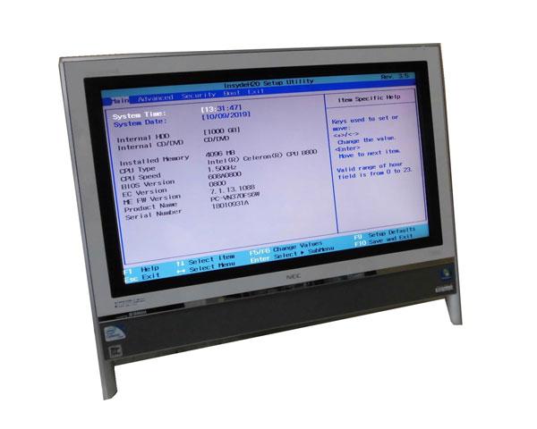 OS・ACアダプタなし NEC VALUESTAR VN370/F (PC-VN370FS6W) Celeron B800 1.5GHz 4GB 1TB DVDマルチ 20インチ 無線LAN 中古パソコン 液晶一体型パソコン