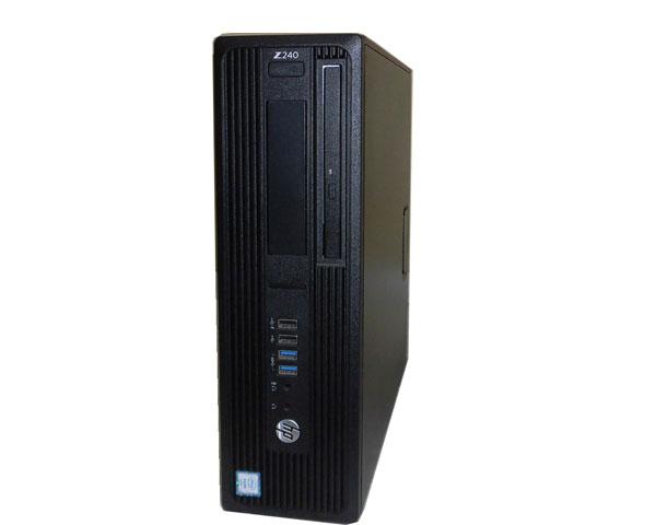 中古ワークステーション Windows10 Pro 64bit HP Workstation Z240 SFF (1KL35PC#ABJ) Xeon E3-1245 V5 3.5GHz 8GB 500GB DVDマルチ Quadro K620