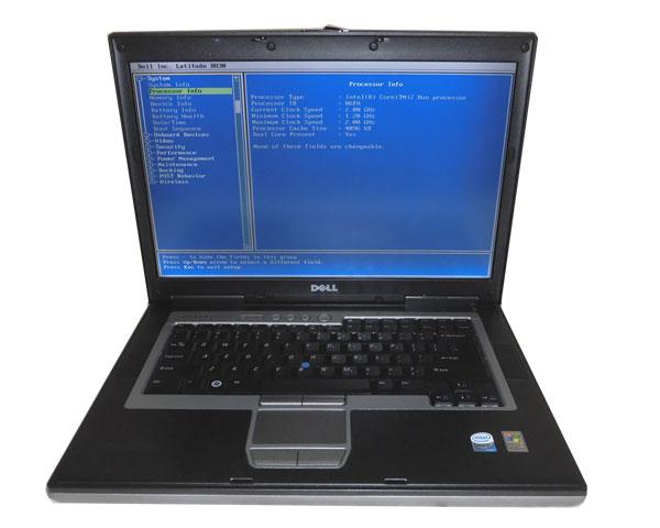OSなし DELL Latitude D830 Core2Duo T7300 2.0GHz 1GB 80GB DVDコンボ 15.4インチ 中古ノートパソコン