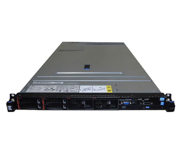 中古 IBM System X3550 M4 7914-PAC Xeon E5-2609 2.4GHz×2 16GB 146GB×1 (SAS 2.5インチ) DVD-ROM AC*2