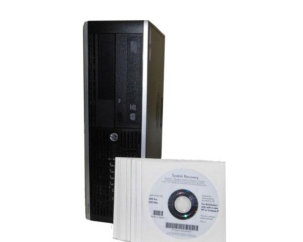 Windows7 Pro 32bit 64bit リカバリー付き HP Compaq 8200 Elite SF (XL510AV) 第2世代 Core i5-2500 3.3GHz 8GB 250GB DVDマルチ 中古パソコン 中古PC デスクトップ 本体のみ ビジネスPC 省スペース型
