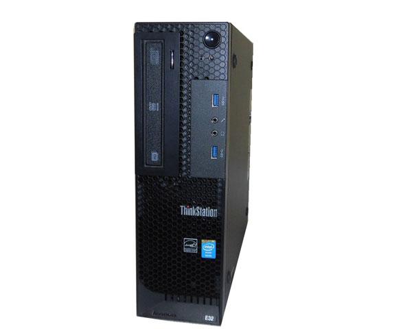 Windows10 Pro 64bit Lenovo ThinkStation E32 SFF 30A2-003NJP Xeon E3-1270 V3 3.5GHz 8GB SSD 256GB + 2TB (SATA) Quadro K600 中古ワークステーション