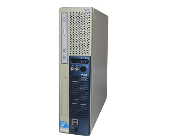 外観難あり Windows7 Pro 32bit NEC Mate MY25GE-A (PC-MY25GEZ7A) Core i7-S860 2.53GHz 4GB 160GB DVDマルチ GeForce GT220 中古パソコン デスクトップ 省スペース型 本体のみ