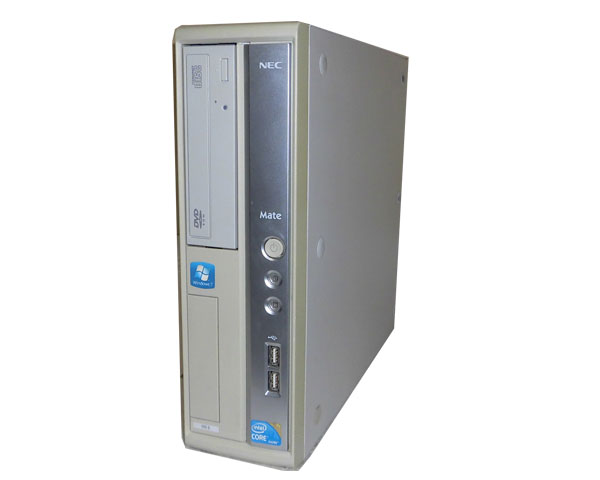 Windows7 Pro 32bit NEC Mate MK32LB-B (PC-MK32LBZCB) Core i3-550 3.2GHz 2GB 160GB DVD-ROM 中古パソコン デスクトップ 中古PC 省スペース 本体のみ