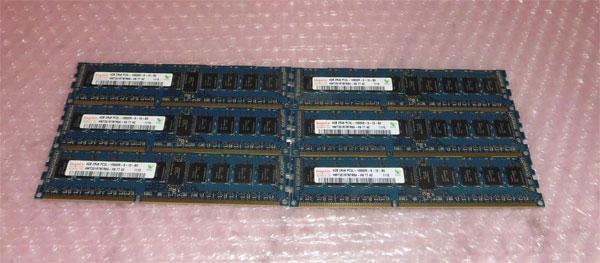 DELL PRECISION T5500取外し品 中古メモリー PC3L-10600R 24GB(4GB×6)