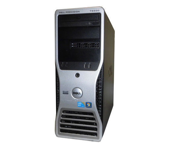 Windows7 Pro 64bit DELL PRECISION T5500 Xeon E5620 2.4GHz×2 16GB 500GB DVD-ROM Quadro NVS295 中古ワークステーション
