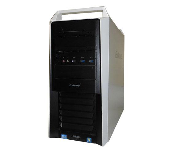 Windows7 Pro 64bit EPSON Endeavor Pro5300 Core i7-3770 3.4GHz 4GB SSD 256GB+SATA 1TB 中古パソコン デスクトップ タワー
