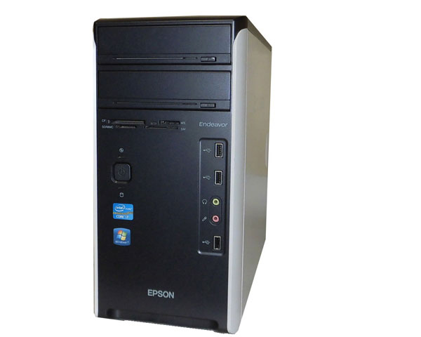 Windows7 Pro 64bit EPSON Endeavor MR6900 Core i7-2600 3.4GHz 8GB 1TB Radeon HD 5770 中古パソコン デスクトップ ミニタワー