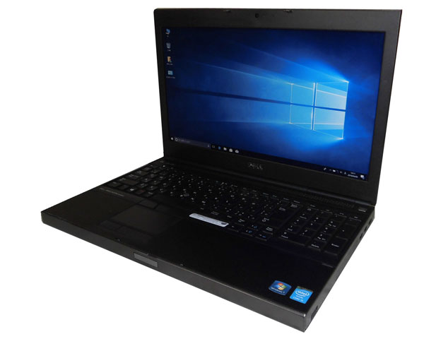 Windows10 Pro 64bit DELL PRECISION M4800 中古ノートパソコン テンキー付き Core i5-4200M 2.5GHz 8GB SSD 128GB DVD-ROM 15.6インチ フルHD(1920x1080) FirePro M5100 Webカメラ