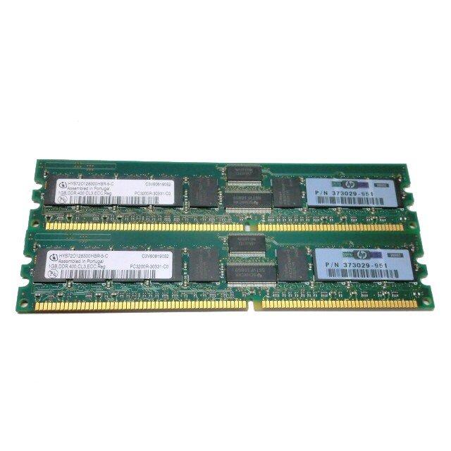 HP 373029-951 中古メモリーPC3200R 2GB(1GB×2) ECC Registered