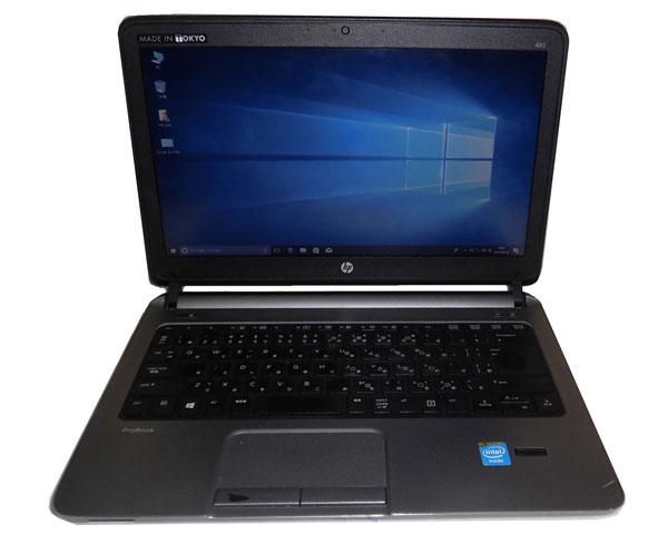 HP ProBook 430 G1 (G7D90PC#ABJ) Windows10 Pro 64bit 中古ノートパソコン 軽量 Celeron 2955U 1.4GHz 4GB 320GB 光学ドライブなし Webカメラ
