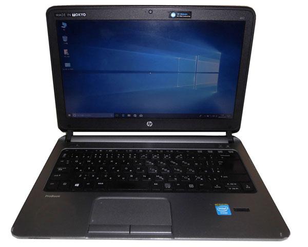 外観難あり HP ProBook 430 G1 (G7D90PC#ABJ) Windows10 Pro 64bit 中古ノートパソコン 軽量 Celeron 2955U 1.4GHz 4GB 320GB 光学ドライブなし Webカメラ