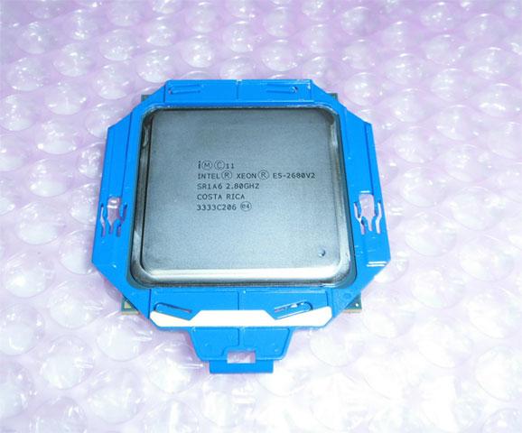 中古CPU Intel Xeon E5-2680 V2 SR1A6 10コア 2.8GHz ProLiant DL360p Gen8取外し品