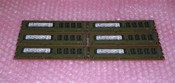 DELL PRECISION T3500取外し品 中古メモリー PC3-10600E 12GB(2GB×6)