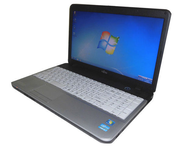 Windows7 Pro 32bit 富士通 LIFEBOOK A531/DX (FMVXNBKK2Z) Core i3 2330M 2.2GHz 2GB 250GB DVDマルチ テンキー WPS Office付き 中古ノートパソコン