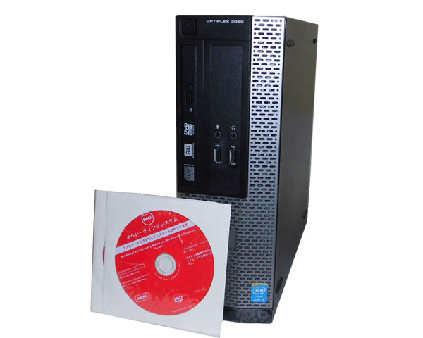 リカバリー付き Windows8.1 Pro 64bit DELL OPTIPLEX 3020 SFF Core i3-4150 3.5GHz 4GB 500GB DVDマルチ 中古パソコン デスクトップ