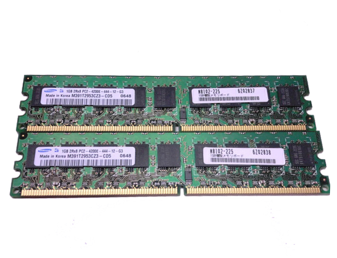 NEC N8102-225 PC2-4200E 2GB(1GB×2枚)【中古】