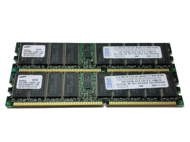 266 Mhz / Pc2100 1 Gb Lenovo 33l5039 Dimm 184-pin Ddr