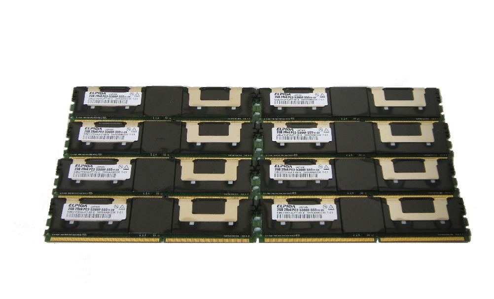 ELPIDA 中古メモリー PC2-5300 FB-DIMM 2GB×8枚(計16GB) 【中古】