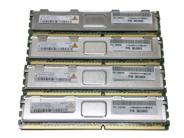 IBM 39M5784(38L5903) 中古メモリー PC2-5300 FB-DIMM 1GB×4枚(計4GB)