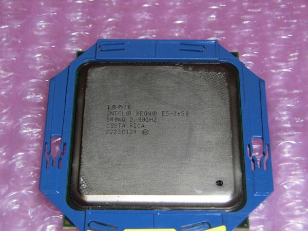 中古CPU Intel Xeon E5-2650 SR0KQ 8コア 2.0GHz DL360p Gen8取外し品