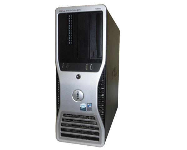 DELL PRECISION 490 WindowsXP Xeon 5160 3.0GHz×2 4GB 320GB CD-ROM NVIDIA Quadro FX3450 中古ワークステーション