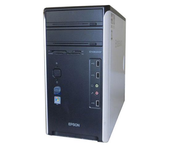 外観難あり OSなし EPSON Endeavor MR6000 Core2Quad Q9400 2.66GHz 4GB 500GB マルチ 中古パソコン タワー型