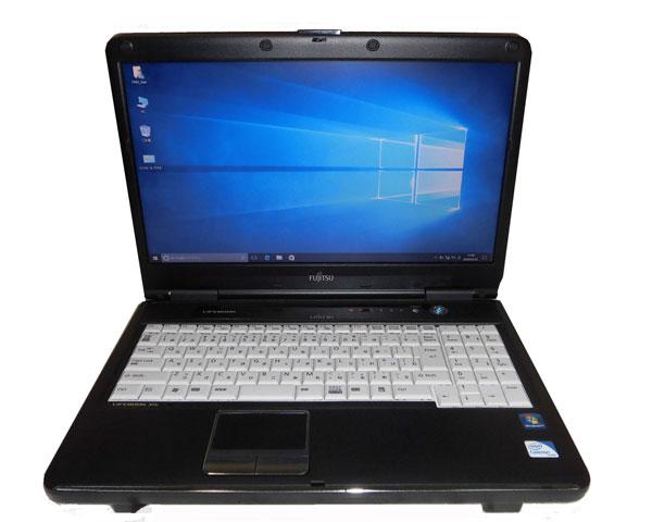 Windows10 Pro 32bit 富士通 LIFEBOOK A540/CX (FMVXN4HJ4Z) Celeron-925 2.3GHz 3GB 160GB DVD-ROM WPS Office 中古ノートパソコン 中古PC ノート テンキー