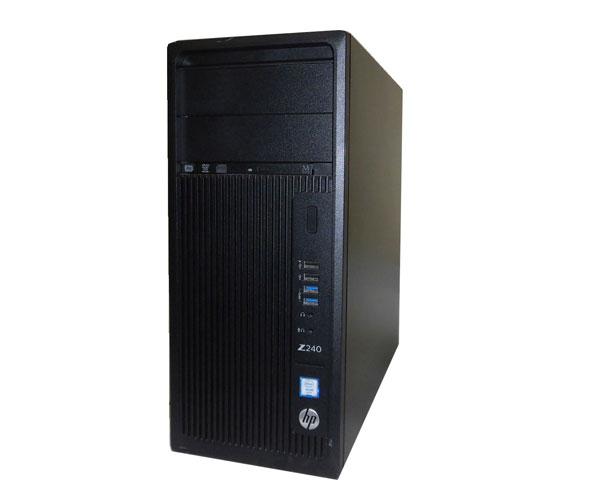 Windows10 Pro 64bit HP Workstation Z240 (L8T12AV) タワー型 Xeon E3-1245 V5 3.5GHz 16GB 500GB DVDマルチ Quadro K420 中古ワークステーション