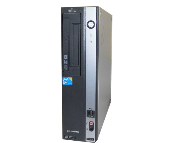 OSなし 富士通 ESPRIMO D550/B(FMVDF2A040) Core2Duo-E7600 3.06GHz 4GB 160GB DVDマルチ 中古パソコン デスクトップ 省スペース 本体のみ
