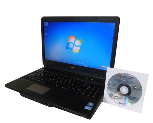 外観難あり Windows7リカバリー付き NEC VersaPro VK24TL-D (PC-VK24TLNV3GSD) Core i5-2430M 2.4GHz 4GB 250GB DVDマルチ HDMI テンキー 中古ノートパソコン