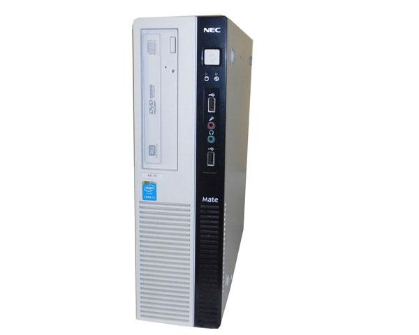 Windows10 Pro 64bit NEC Mate MK37LL-N (PC-MK37LLZL15SN) Core i3-4170 3.7GHz 4GB 500GB DVDマルチ 中古パソコン デスクトップ 省スペース型 本体のみ