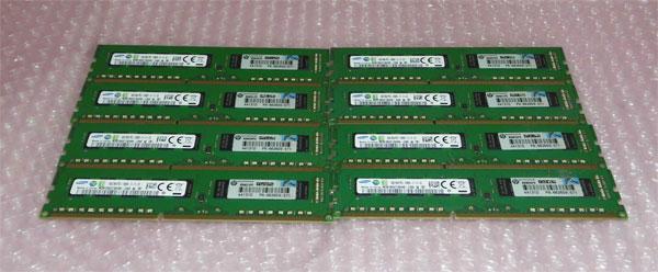 中古メモリー HP 662609-571 PC3-12800E 32GB(4GB×8枚) HP Workstation Z420取り外し品