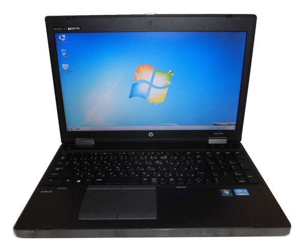 Windows7 Pro 64bit HP ProBook 6570b (B8A72AV) テンキー Core i7-3520M 2.9GHz 8GB SSD 128GB DVDマルチ 中古ノートパソコン 中古PC ノート